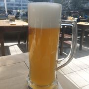 空港でできたてビール!