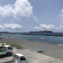 新島で家族で海水浴なら前浜がオススメ