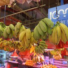 バナナの陳列がユニーク