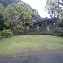 広いお庭です。