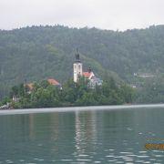 湖の中の島