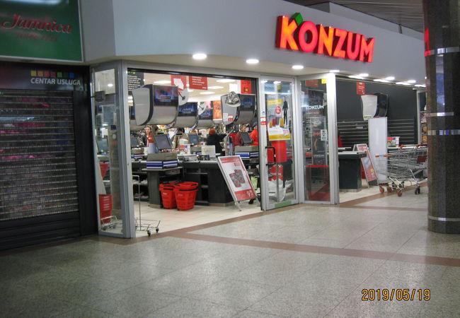 クロアチアのスーパーチェーン店