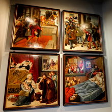 サンロケ1295-1327の生涯を示す1505年の祭壇画