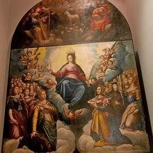 殉教者に囲まれたマリアの栄光
