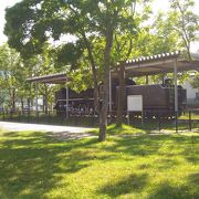 SLの展示がある公園