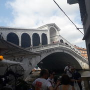 お店が橋の上に