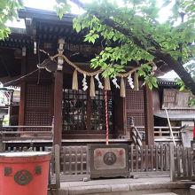 落ちついた雰囲気の神社
