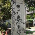 写真:白井助七領徳碑