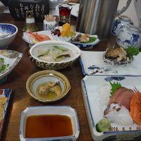 エビ塩茹皿出汁塩水真つぶ貝、刺身活きあわび、刺身皿