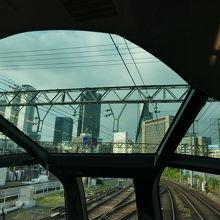 名古屋駅に近づく間際の圧巻の光景