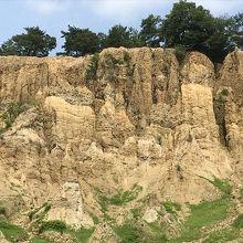 土柱を正面から見た写真