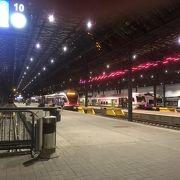 空港行きの電車乗り場がわかりにくい