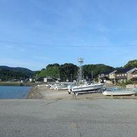 宿の目前は、狼煙漁港の海。