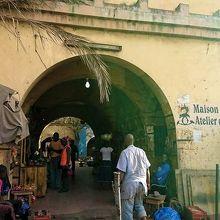 バマコのお土産物市場