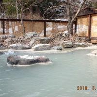 「ぬぐだまる湯っこ」の温泉の露天風呂