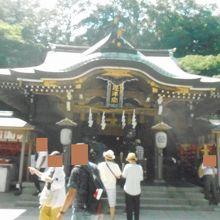 江島神社の本殿の様な感じでした。