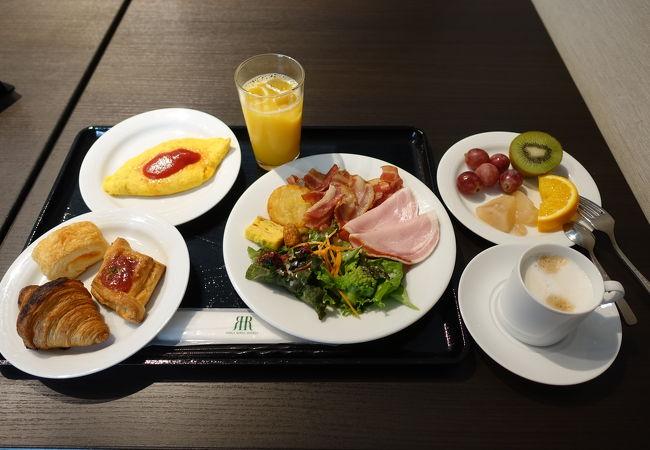 充実の朝食ビュッフェ
