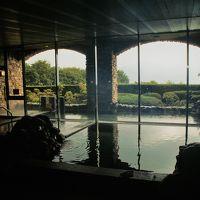 天然温泉で明るい大浴場。バスタオル・フェイスタオル準備