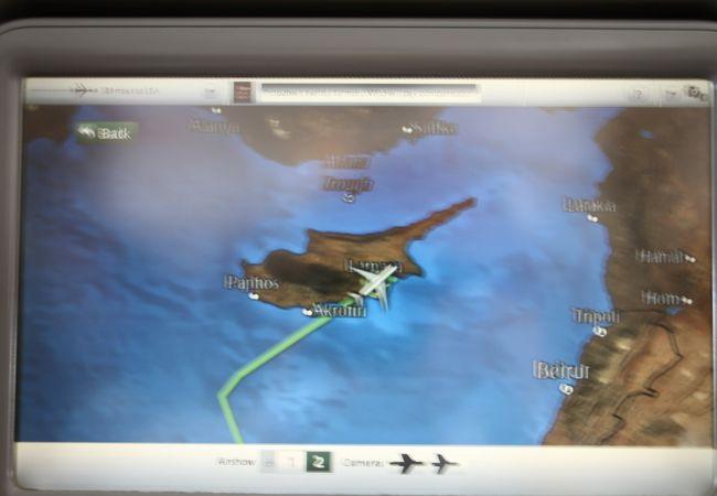 キプロス共和国の空港に1時間だけ、おじゃましました。