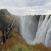 ビクトリアの滝、ザンビア側展望台
