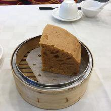 2日目のデザートは中国風蒸しカステラ
