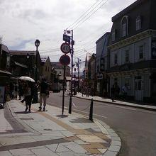 小樽で一番人気のある通り。