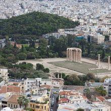 ゼウス神殿の眺め