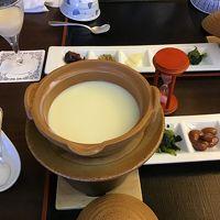 朝食 手作り豆腐