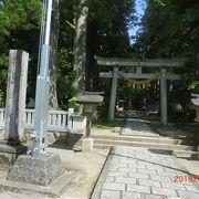 立山連峰の雄山にかかる神社です