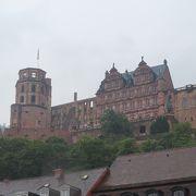 ハイデルベルグ旧市街を眺む古城