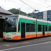 高知市と隣接する南国市、いの町の一部を走る路面電車。