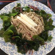 山芋海藻サラダ蕎麦