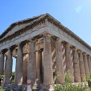 神殿の形がきれいに残る