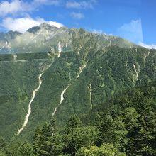 ロープウェイから見る穂高連峰