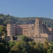 川沿いの高台にある雰囲気がよい城
