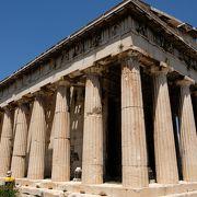 保存状態の良いヘファイストス神殿