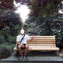 記念撮影をしていたベンチで再度撮影