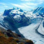 氷河とマッターホルン