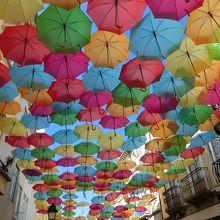 アゲタグエダ美術祭 (傘の道)