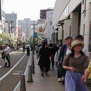 商店街を通り松山城へ