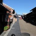 写真:川原町の古い町並み