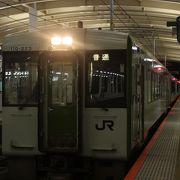 新潟発20時7分、会津若松行最終列車に乗りました
