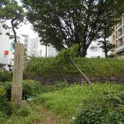 旧東海道は拡幅された第一京浜国道になって、僅かな石垣をとどめるのみ。