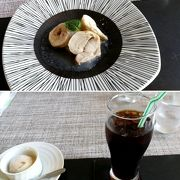 秋芳洞のあとの食事に、お手頃価格のお箸で食べるフレンチ