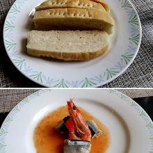 お箸で食べるフレンチ¥1300 パン ・自家製フォカッチャ