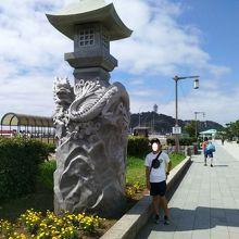 江ノ島大橋から江島方面の景色