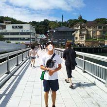 江ノ島大橋を渡って江の島へ