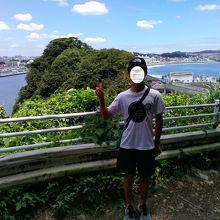 島内からの湘南海岸風景