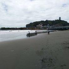 湘南海岸からの江の島風景