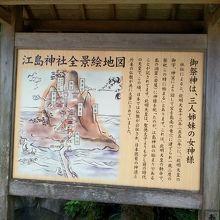 江島神社の案内板